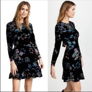 Rebecca Minkoff | Floral Velvet Steffy Mini Dress